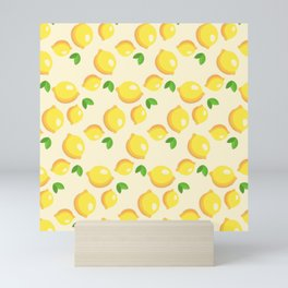 Lemon Pattern Mini Art Print