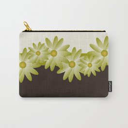 Green Daisy Carry-All Pouch
