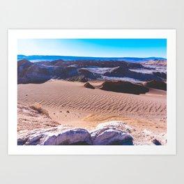 Valle de la Luna (Moon Valley) in San Pedro de Atacama, Chile Art Print