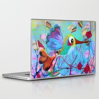 hemingway Laptop & iPad Skins featuring Hemingway - Quirky Bird Series by Hyla Zest