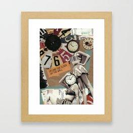 Like The Clock On The Wall Framed Art Print