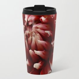 Cognac-Colored Dahlia Travel Mug