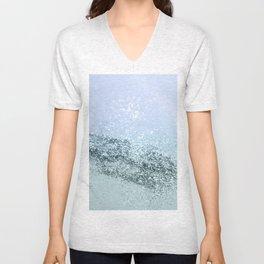Light Seafoam Light Blue Glitter #1 #shiny #decor #art #society6 Unisex V-Neck