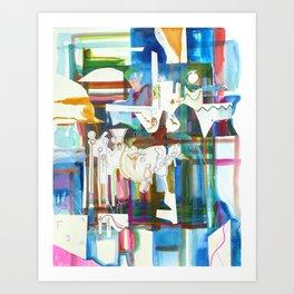 Plaid Passage Art Print