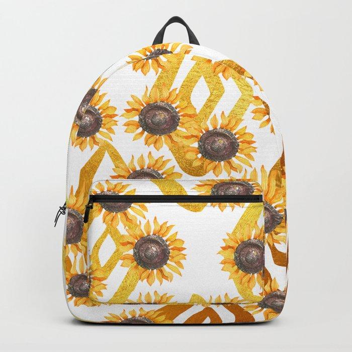 Golden Sunflowers Backpack