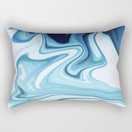 Liquid blue marble Rectangular Pillow