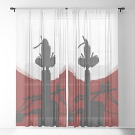 RedMoon Silhouette Sheer Curtain