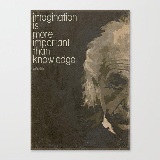 Einstein retro minimalist Canvas Print
