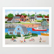 A Day with Dad Art Print