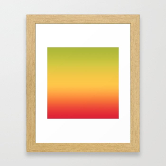 Tropical Colorful Gradient Pattern Framed Art Print