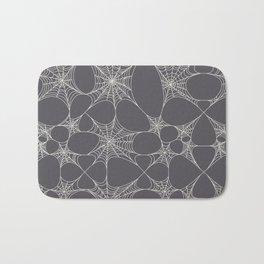 Spiderweb Pattern in Black Bath Mat