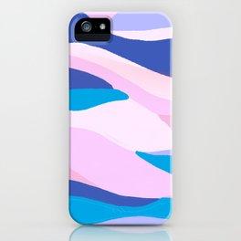 lucia, orange sunset ocean waves iPhone Case