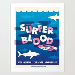 Surfer Blood Poster Art Print