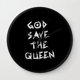 God save the queen, for hardcore minds Wall Clock