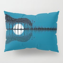 Trees sea and the moon turned guitar Pillow Sham