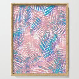 Palm Leaves - Iridescent Pastel Serving Tray