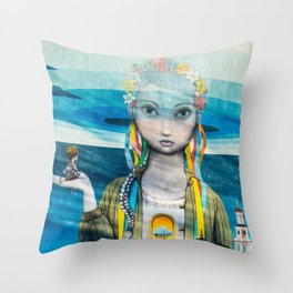 street graffiti in Kiev Throw Pillow