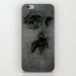 Frank Zappa portrait iPhone Skin