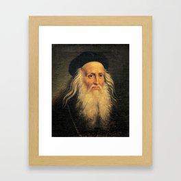 Leonardo Da Vinci self portrait Framed Art Print