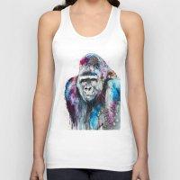 gorilla Tank Tops featuring Gorilla by Slaveika Aladjova