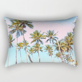 Coconut Palms #society6 #decor #buyart Rectangular Pillow