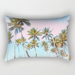 Coconut Palms #society6 #decor #buyart Rectangular Pillow