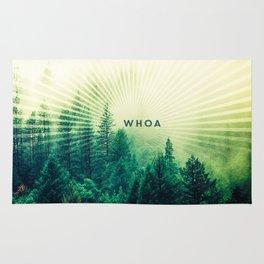 Whoa Trippy Forest Sun Light Rays Rug
