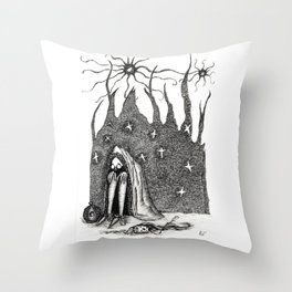 Into the Shelter Throw Pillow