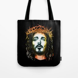 holy face of jesus Tote Bag