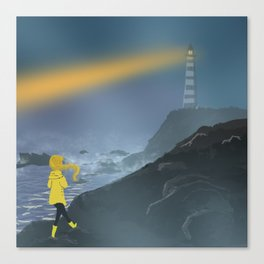 Hope of a Lighthouse Canvas Print