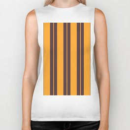 Retro Vintage Striped Pattern Biker Tank