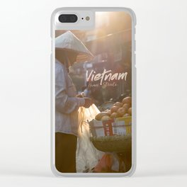 Vietnam street market Clear iPhone Case