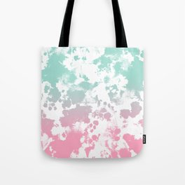 Margot - abstract painting mint and pink pastel trendy girly home decor dorm college gifts Tote Bag