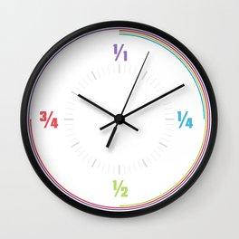 Minimal Simple Colourful Clock Design Math Wall Clock