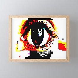 TELETEXT, EYE ART. BBC CEEFAX TRIBUTE. Framed Mini Art Print