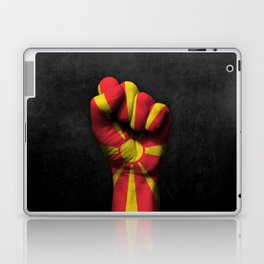 Macedonian Flag on a Raised Clenched Fist Laptop & iPad Skin