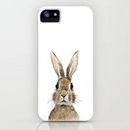 cute innocent rabbit iPhone Case