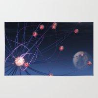 hydra Area & Throw Rugs featuring Celestial Hydra by Ann Garrett
