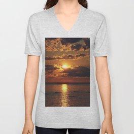 Beauty over the Sea Unisex V-Neck
