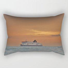 Ferry At Sunrise Rectangular Pillow