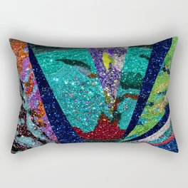 Peacock Mermaid Battlestar Galactica Abstract Rectangular Pillow