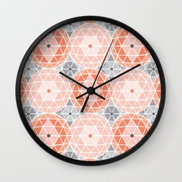 Geodome - Pink Wall Clock