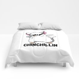 Dabbing Chinchillin T Shirt Chinchilla Cute Pet Comforters