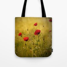 Poppy-field Poppies Flowers Flower Tote Bag