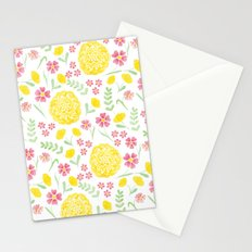 Watercolor floral pattern with doily Stationery Cards