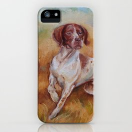 POINTING DOG German Pointer in the field iPhone Case
