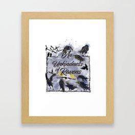 An unkindness of Ravens Framed Art Print