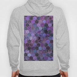 Purple geometric hexagonal elegant & luxury pattern Hoody