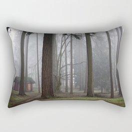 A foggy walk in the woods Rectangular Pillow