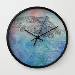 Millennium Falcon Sunset Sky Wall Clock